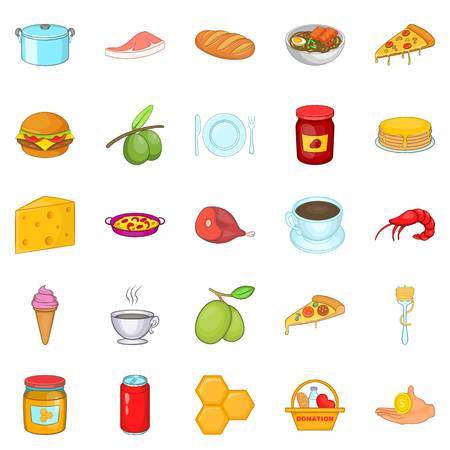 Jar icons set. Cartoon set of 25 jar vector icons for web isolated on white background