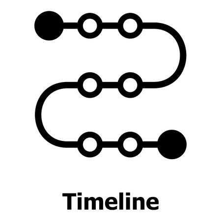 Timeline icon. Simple illustration of timeline vector icon for web. 向量圖像