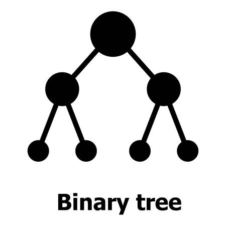 Binnary tree icon, simple style.