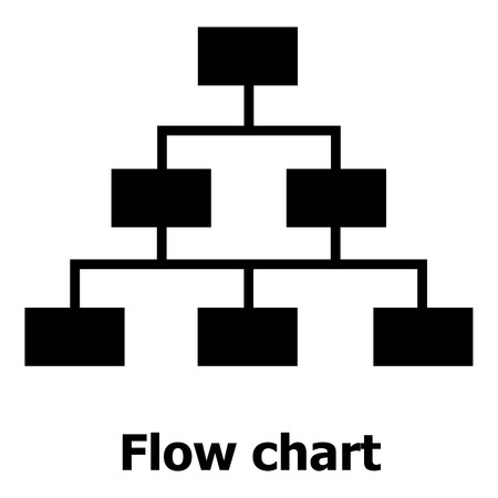 Flow Chart Icon Royalty Free Cliparts Vectors And Stock