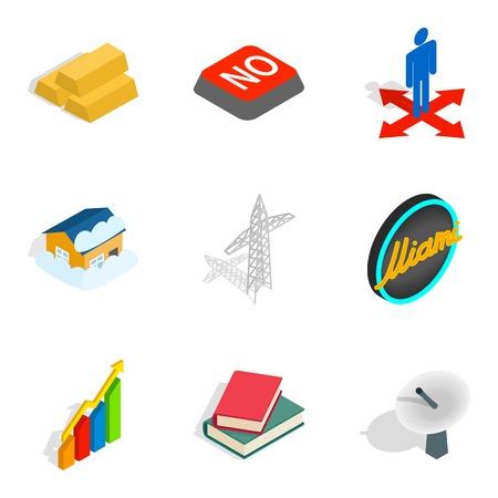 Value icons set, isometric style