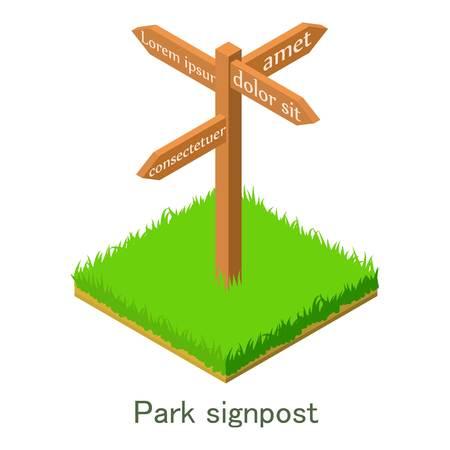 Park signpost icon