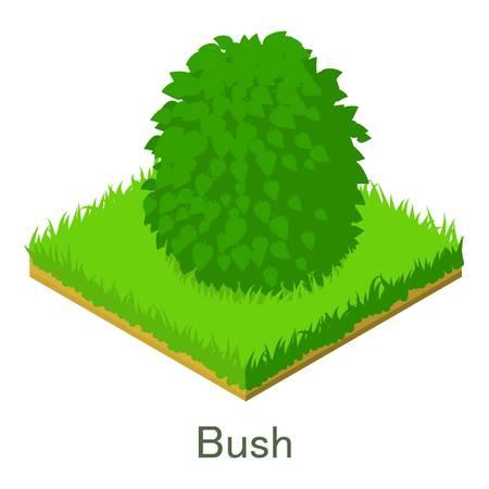 Bush icon. Isometric illustration of bush vector icon for web. Illustration