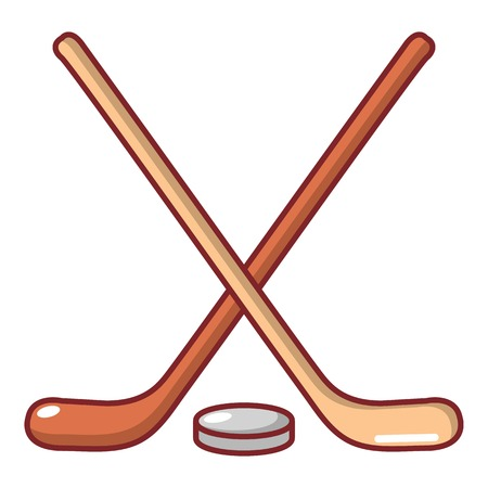 Cartoon illustration of hockey stick vector icon for web Ilustracja