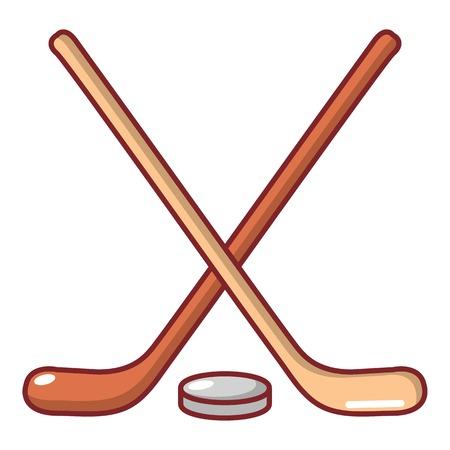 Cartoon illustration of hockey stick vector icon for web Illustration