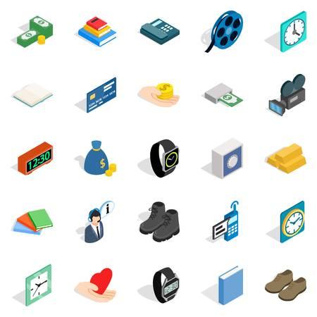 Pledge icons set isometric vector illustration for web design Illusztráció