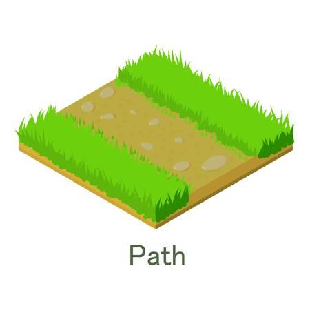 Pfadsymbol. Isometrische Illustration der Wegvektorikone für Netz. Standard-Bild - 93367452