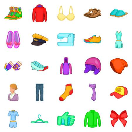 Dandy icons set. Cartoon set of 25 dandy vector icons for web isolated on white background