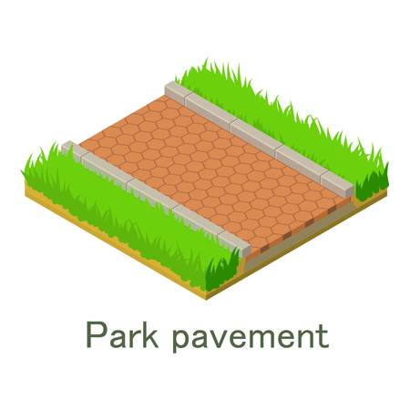 Park pavement icon. Isometric illustration of park pavement vector icon for web.