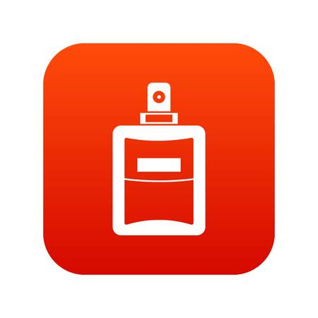 Perfume icon digital red for any design isolated on white vector illustration Illustration