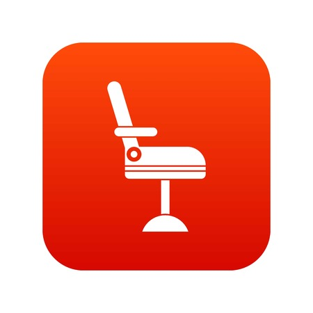 Chair icon digital red