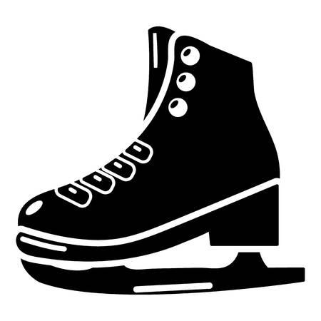 Skates ice icon, simple black style