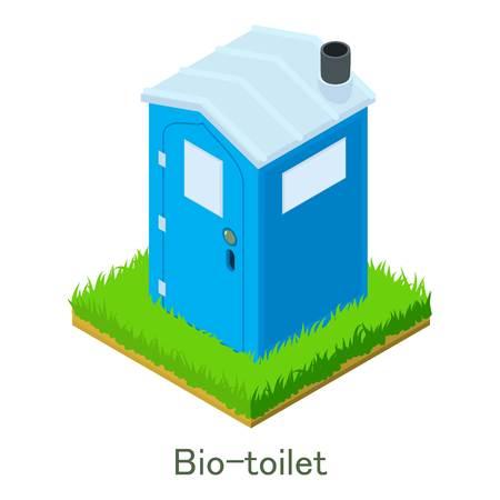 Bio-toilet pictogram, isometrische stijl.