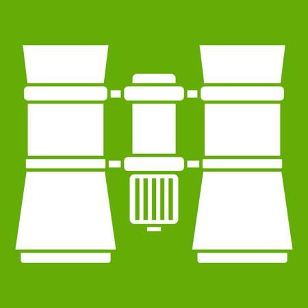 Binoculars icon green Çizim