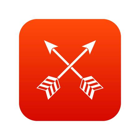 Arrows icon in digital red background