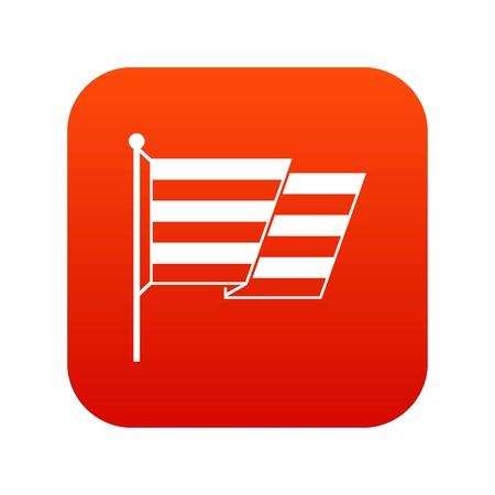Flag LGBT icon digital red