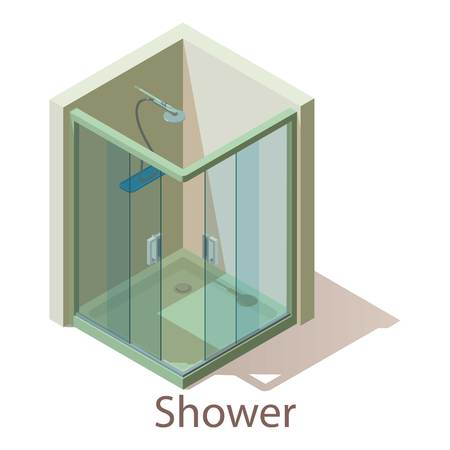 Shower icon. Isometric illustration of shower vector icon for web.