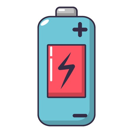 Battery icon. Cartoon illustration of battery vector icon for web. Vettoriali