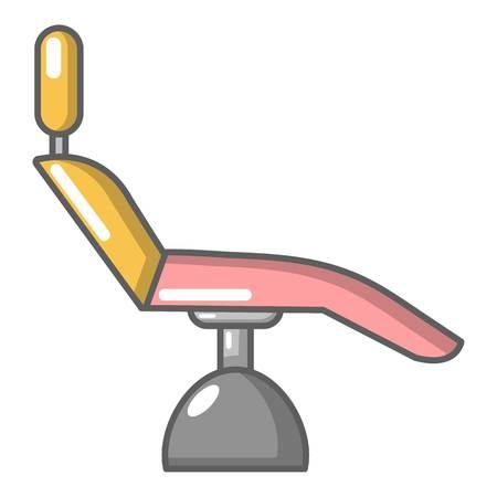 歯科医の椅子のアイコン、漫画のスタイル