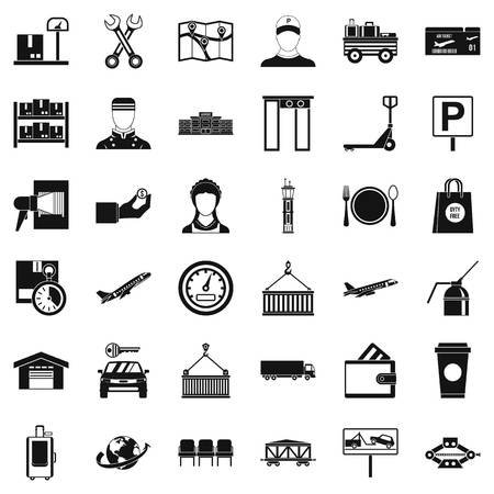 Loader icons set, simple style Vektoros illusztráció