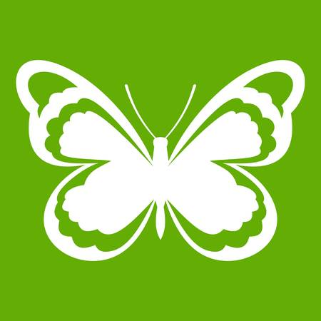 Small butterfly icon green Illustration