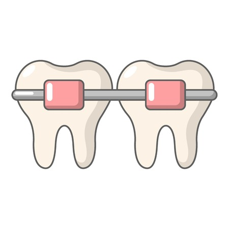Dental brace icon. Cartoon illustration of dental brace vector icon for web Stock Illustratie
