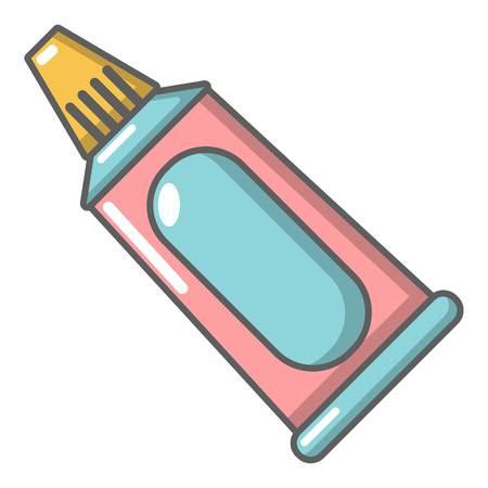 Toothpaste tube icon. Cartoon illustration of toothpaste tube vector icon for web Illustration