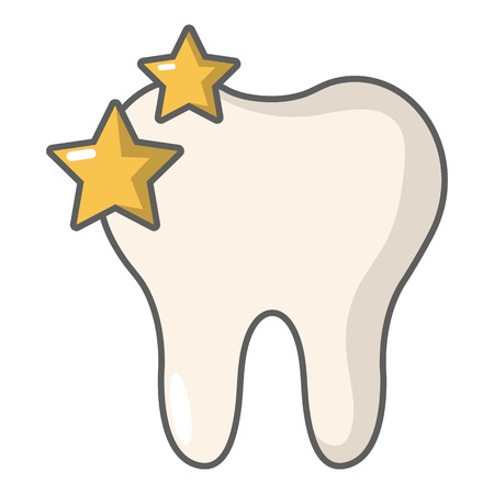 Tooth icon. Cartoon illustration of tooth vector icon for web