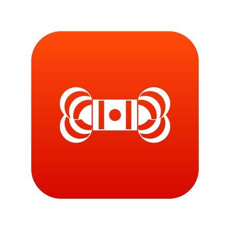 Skein of yarn icon digital red