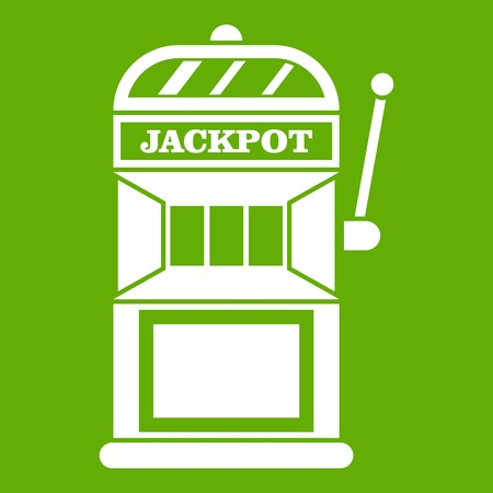 Gamble machine icon green