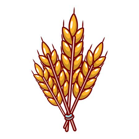 Winter wheat icon, cartoon style.