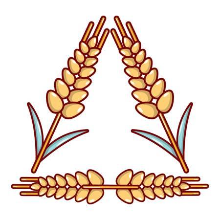 Winter-hardened wheat icon, cartoon style. Illustration