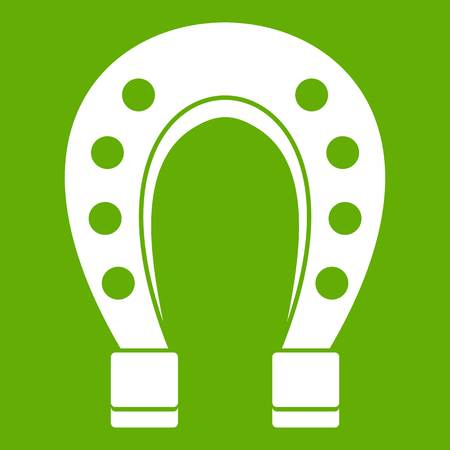 Horse shoe icon green. Illustration