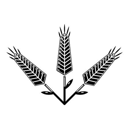 Abundant wheat icon, simple style.