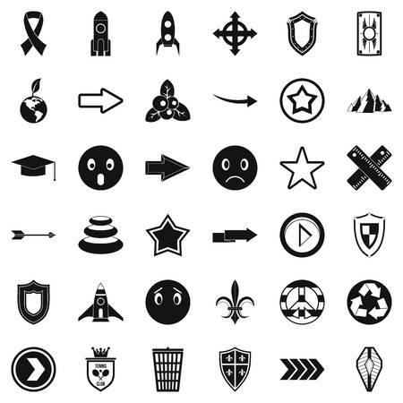 Stigmatize icons set. Simple set of 36 stigmatize vector icons for web isolated on white background Vettoriali