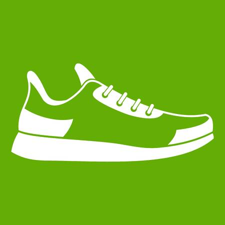 Casual sneaker green icon, equipment for activity