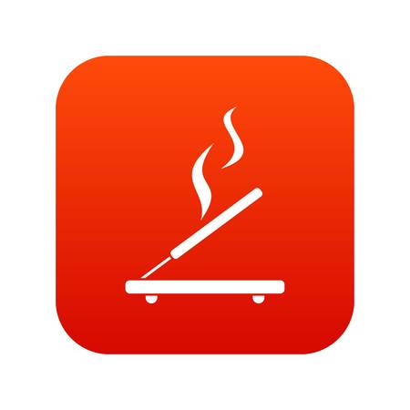 Incense sticks icon digital red