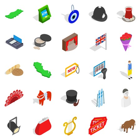 Griffin icons set, isometric style Stock Vector - 93975811
