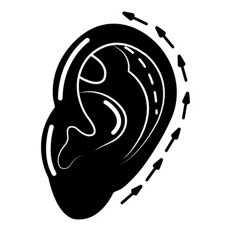 Ear reduction icon, simple style.