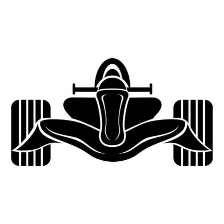 Racing car formula icon, simple black style Illustration