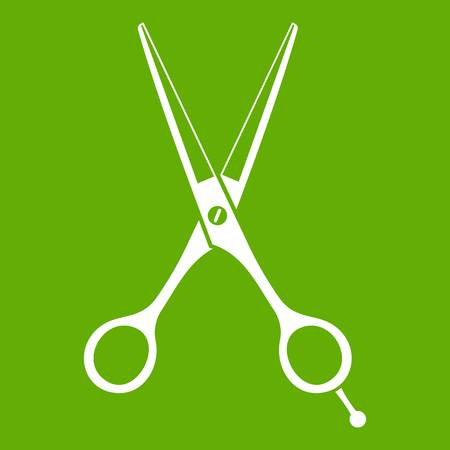 Scissors icon green