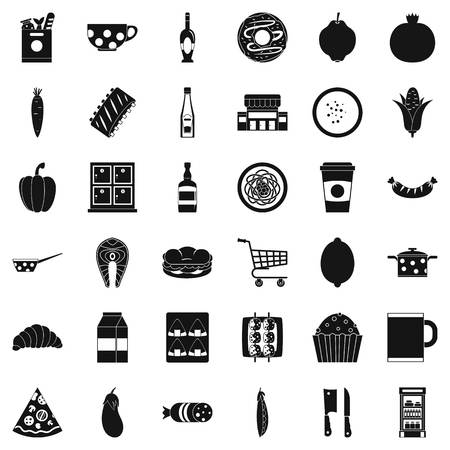 Formal dinner icons set. Simple set of 36 formal dinner vector icons for web isolated on white background.