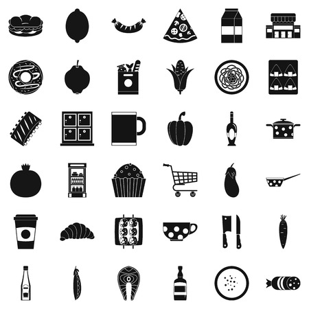 Gala dinner icons set. Simple set of 36 gala dinner vector icons for web isolated on white background. Ilustração