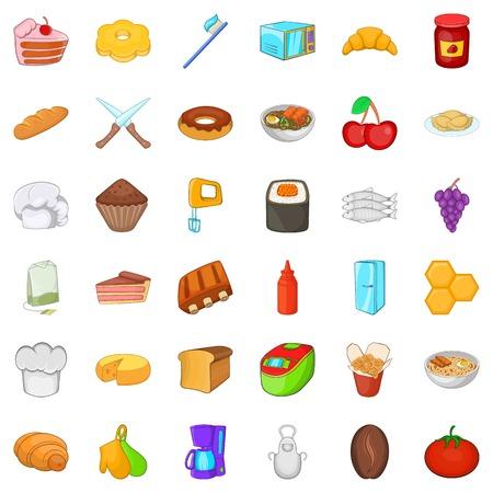 variété d & # 39 ; icônes alimentaires fixés. jeu de 36 icônes de nourriture vecteur de nourriture pour le web isolé sur fond blanc