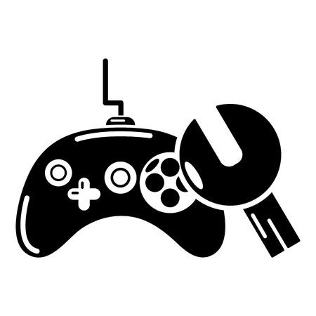 Gamepad repair icon, simple style. Illustration