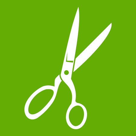 Sewing scissors icon green
