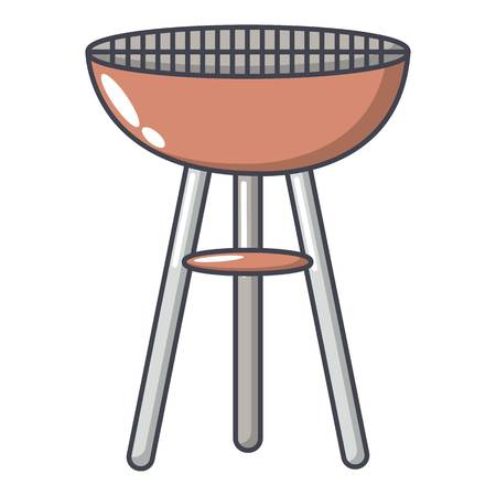 Barbecue icon. Cartoon illustration of barbecue vector icon for web.