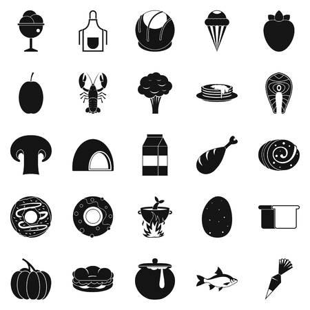 iconos de comida favorita conjunto . el conjunto simple de iconos de vector de comida rápida de alimentos para web aislado en el fondo blanco
