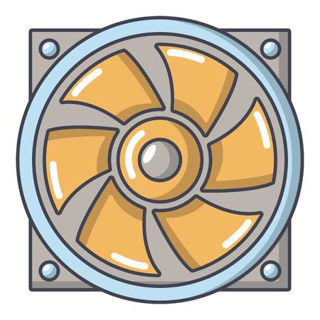 Thermal fan icon. Cartoon illustration of thermal fan vector icon for web. Ilustração