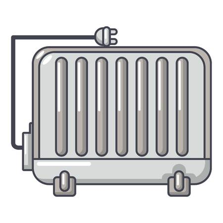 Electric battery icon. Cartoon illustration of electric battery vector icon for web. Illustration